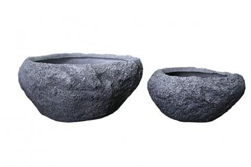 Topf im Steindesign, Fiberglas, verschiedene Größen