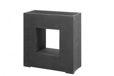 Pflanztopf Basic quadratisch m. Loch, 68 x 27 x 68 cm