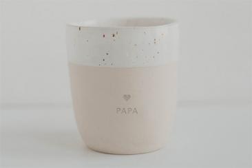 Steingutbecher Papa