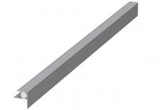 Megawood Hausanschlussprofil 400 cm, silber