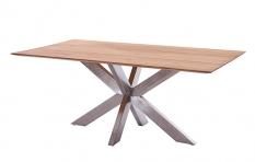 Tisch Marbella mit Unterfase, Edelstahlgestell, Diamond Garden