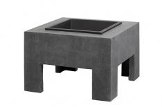 Feuertisch mit Fiberglaskonsole