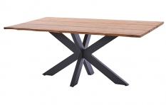 Tisch Marbella mit Baumkante, Edelstahlgestell dunkelgrau, Diamond Garden