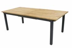 Gartentisch San Marino, Tischplatte HPL Anthrazit-Titan, Edelstahlgestell 304, Diamond Garden