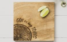Servierbrett Gin, viereckig