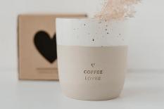 Steingutbecher Coffee Lover